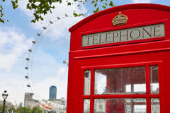 London old red Telephone box in England Stock Photo