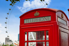 London old red Telephone box in England Royalty Free Stock Photography