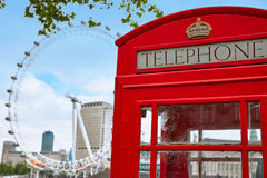 London old red Telephone box in England Stock Photography
