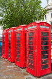 London old red Telephone boxes Stock Photo