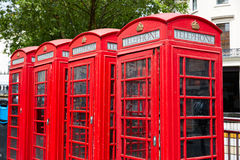 London old red Telephone boxes Stock Images