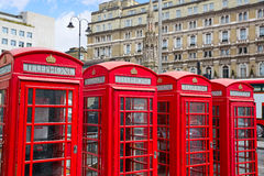 London old red Telephone boxes Stock Image