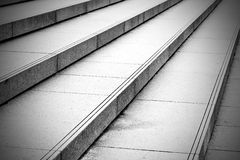 in london old steps and    marble ancien line Stock Images