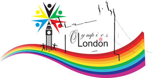 london olimpiady Obraz Royalty Free