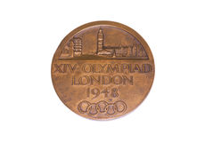 London 1948 Olympic Games Participation medal, obverse. Kouvola, Finland 06.09.2016. Stock Images