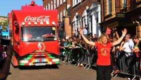 london olympic relayfackla 2012 Fotografering för Bildbyråer