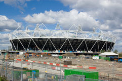 London Olympic Stadium. The main venue for the London Olympic Games of 2012 under construction at Stratford, East London Stock Photo