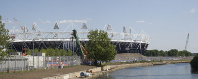 London Olympic Stadium 2012. The London Olympic Stadium site in May 2011 with the Lower Lea Valley in the foreground. The stadium will have a capacity of 80,000 Stock Photography