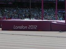 London 2012 Olympic stadium pole vault Royalty Free Stock Photo