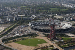 London olympic stadium. Site from the air Royalty Free Stock Photography