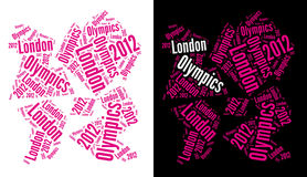 London Olympics 2012 Logo. An abstract logo of the London Olympics 2012 from words arrangement. Image will be useful to illustrate publications relating to the Royalty Free Stock Images
