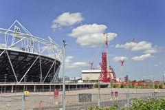 London Olympics 2012 stadium nears completion Royalty Free Stock Image