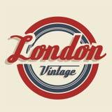 London olympics. Vintage illustration of the london 2012 olympics, vector illustration Royalty Free Stock Image