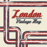 London olympics. Vintage grunge illustration of the london 2012 olympics, vector illustration Stock Photo