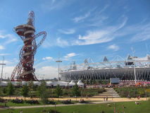 London Olympics Games 2012 Arcelor Mittal Tower an Royalty Free Stock Photos