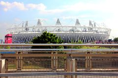 London-olympisches Stadion Stockfotos