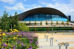 London-olympisches Wassergebäude Stockfoto