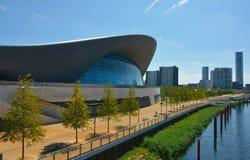 London olympisk vatten- byggnad Arkivfoto