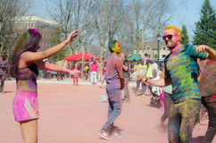 London Ontario, Canada - April 16: Unidentified young colorful royalty free stock photo