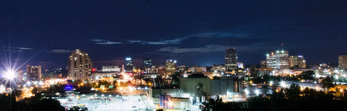 London Ontario Skyline. London, ON Canada skyline at night Stock Photography