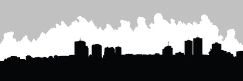 London, Ontario Skyline. Skyline silhouette of the city of London, Ontario, Canada Royalty Free Stock Image