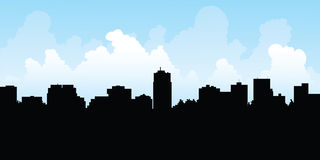 London, Ontario Skyline. Skyline silhouette of the city of London, Ontario, Canada Stock Images