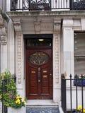 London, ornate door. Of elegant townhouse Royalty Free Stock Photography