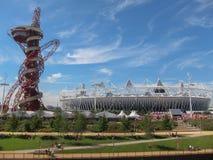 London OS:er spelar Arcelor 2012 Mittal Tower Fotografering för Bildbyråer