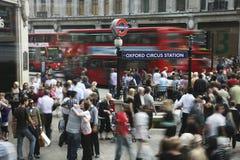 london oxford gata Fotografering för Bildbyråer