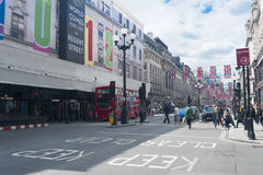 London Oxford street scene Royalty Free Stock Images