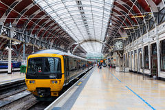 London Paddington station in London, UK. London, UK - June 19, 2016: London Paddington station with unidentified people. Much of the main-line station dates from Stock Image