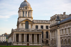 LONDON,  Painted hall at sunset, south of London, Classic Architecture of British empire period Royalty Free Stock Photography