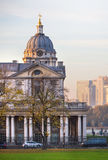 LONDON,  Painted hall at sunset, south of London, Classic Architecture of British empire period Stock Images