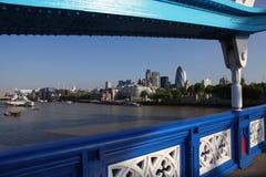 London-Panorama über Fluss, Großbritannien Lizenzfreie Stockfotos