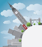London panorama with big ben Stock Image