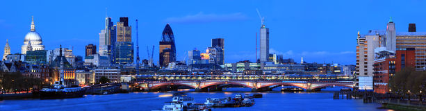 London Panorama at Dusk Stock Image