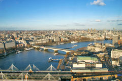 London panorama from London eye Royalty Free Stock Photos
