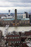 London panorama med moderna Tate Arkivfoton