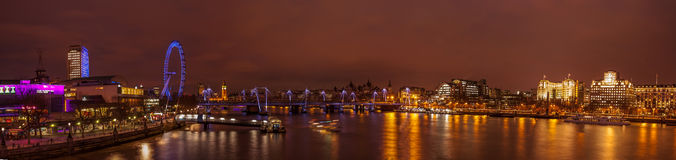 London panorama at night royalty free stock image