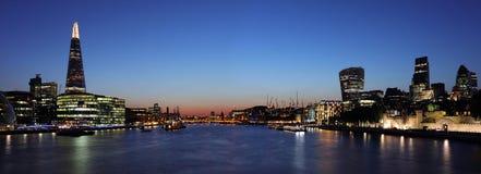 London panorama at night Royalty Free Stock Photos