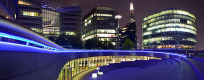 London Panorama at Night Stock Image