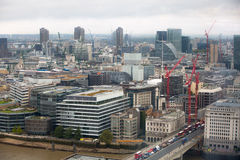 London panorama with River Thames and London bridges Stock Photos