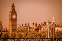 London panorama in sepia Stock Photo
