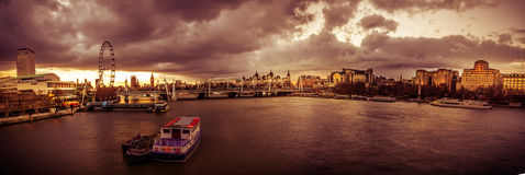London panorama at sunset Royalty Free Stock Photos