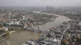 London panorama tower bridge stock footage