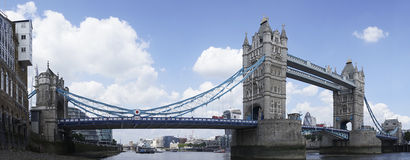 London Panorama. London, United Kingdom - June 01, 2014: View to the Tower bridge and the river Thames royalty free stock photos