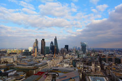 London-Panoramablick, Großbritannien Stockfotografie