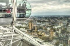 London-Panoramablick von einer London-Augenkapsel Lizenzfreie Stockfotografie