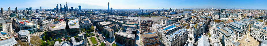 London 360 panoramautsikt royaltyfria bilder