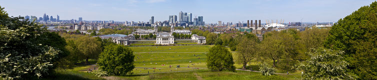 London Panoramic from Greenwich Park Stock Photography